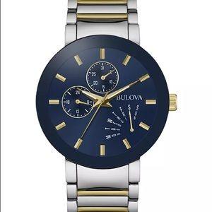 Bulova Men's Futuro Two-Tone Stainless Steel Watch